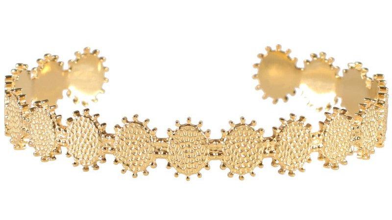 """Bracelet jonc """"Soleil"""" doré"""