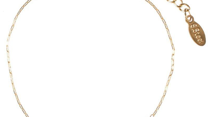 """Bracelet chaine """"Lotus multicolore"""" doré"""