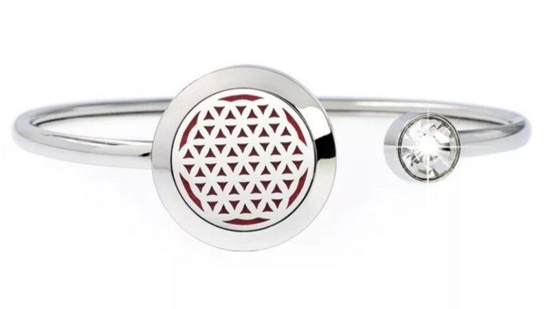 """Bracelet Parfumeur Jonc """"Fleur de vie"""" 20mm"""