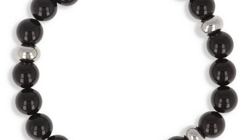 "Bracelet pierre ""Agate noire"""