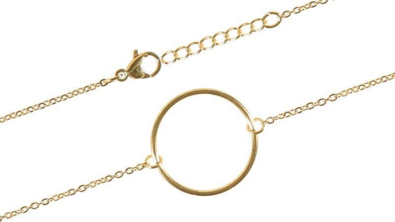 """Bracelet chaine """"Circle"""" doré"""