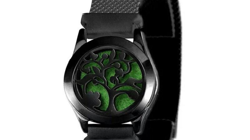 """Bracelet Parfumeur maille """"Arbre de vie"""" noir 25mm"""