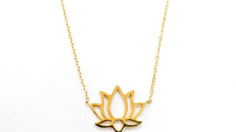 """Collier """"Lotus"""" - Doré"""