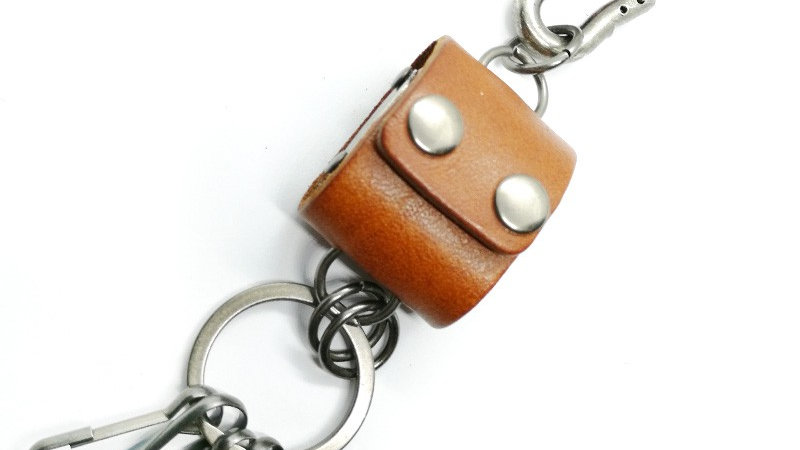 "Porte-clés ""4 Dés marron"""