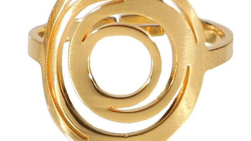"""Bague """"Spirale"""" doré"""