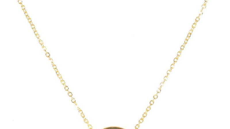 Collier avec pendentif arbre de vie en acier doré