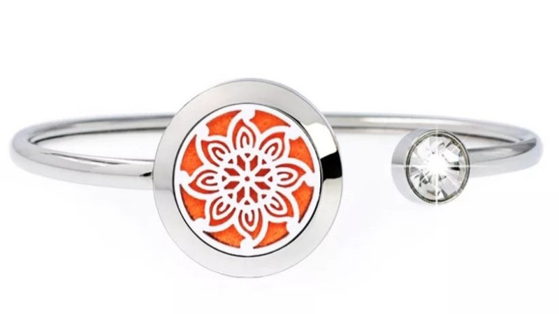 "Bracelet Parfumeur Jonc ""Fleur"" 20mm"