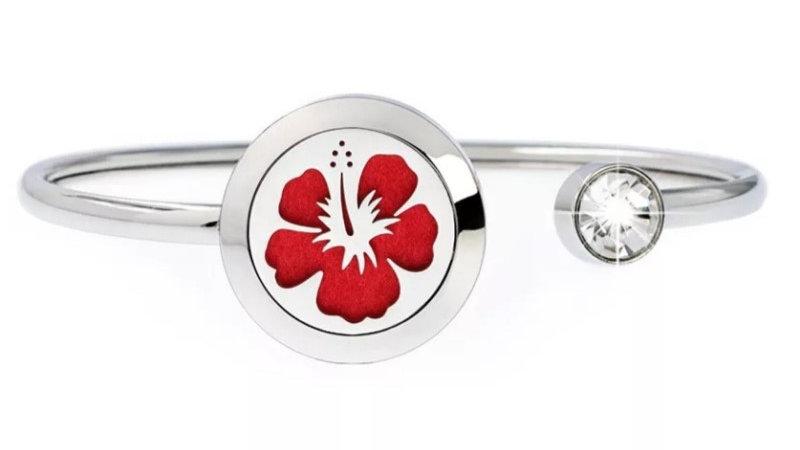 """Bracelet Parfumeur Jonc """"Fleur Hibiscus"""" 20mm"""