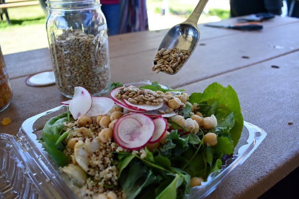 Salad made in the gardens.
