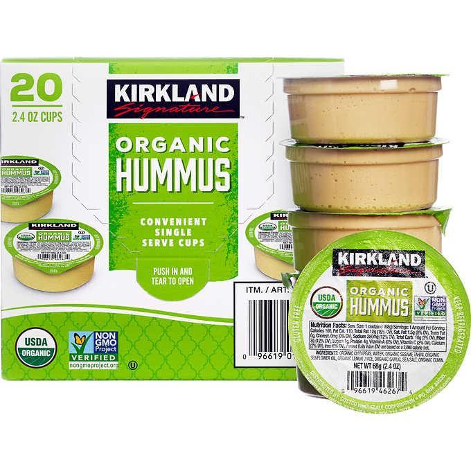 Kirklands organic hummus to go.