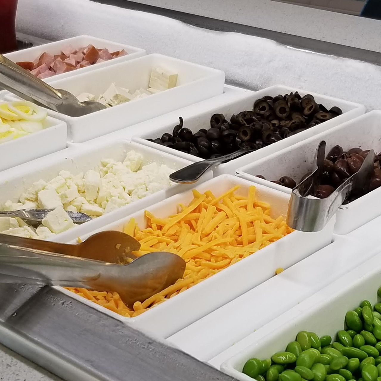 Salad bar in the Cafe.
