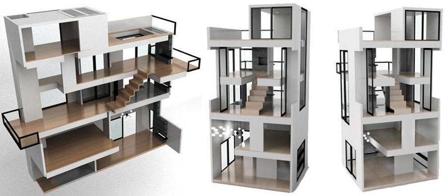 Casa de boneca inspirada na casa