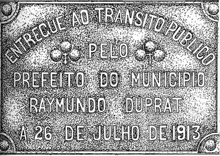 Placa Inauguração, 1913