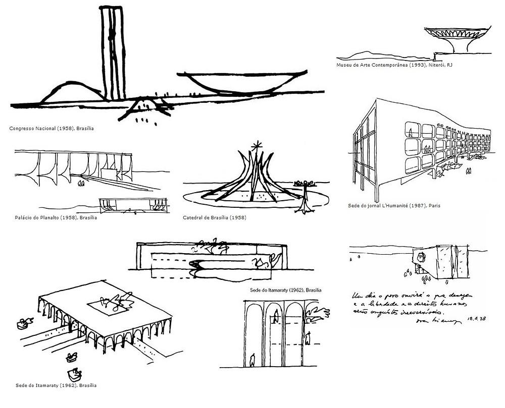 Croquis Oscar Niemeyer