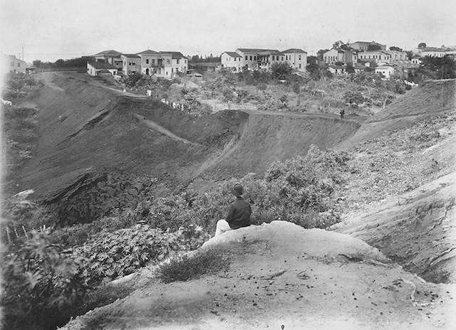 Local da construção, 1909