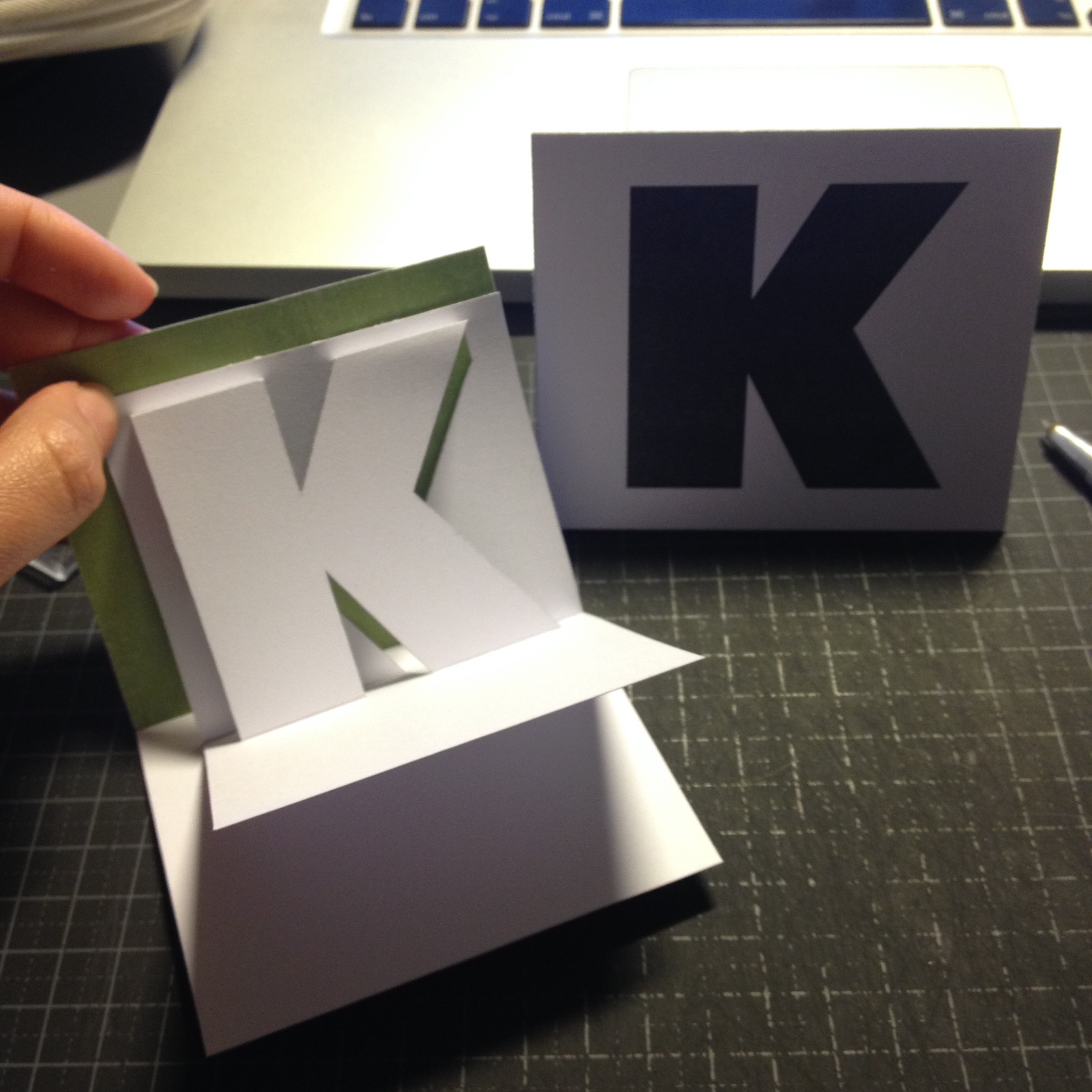 K with envelope