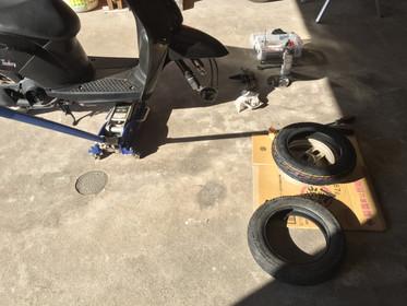 50ccスクータータイヤ交換