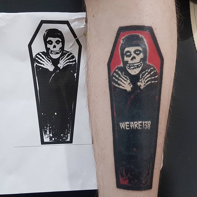 Hand Poked - Misfits Logo Tattoo