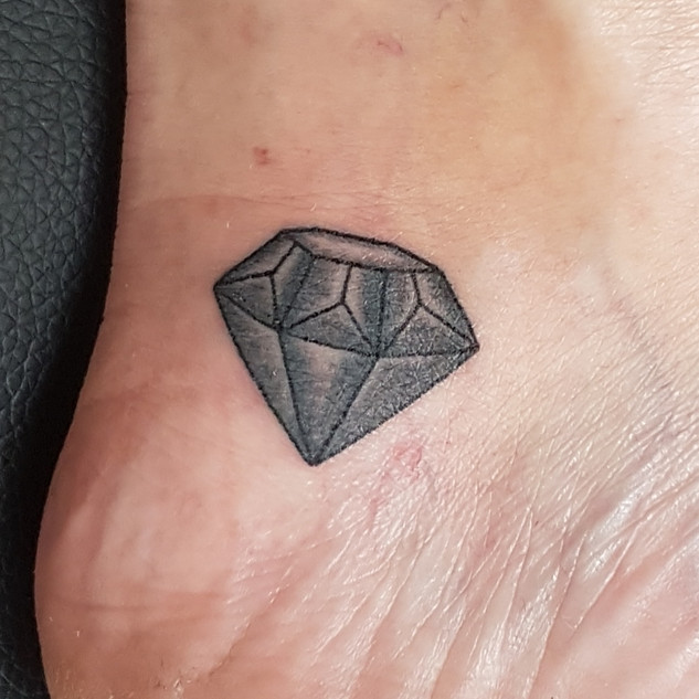 Hand Poked - Small Diamond Tattoo