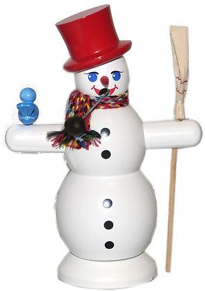 Räucherfigur - Schneemann mit rotem Hut