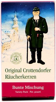 Original Crottendorfer Räucherkerzen -Bunte Mischung - Inhalt 24 St.