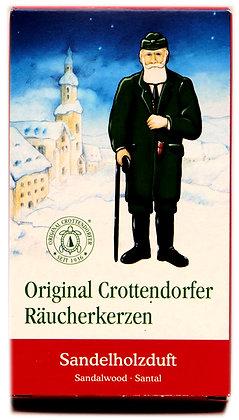 Original Crottendorfer Räucherkerzen -Sandelholzduft- Inhalt 24 St.