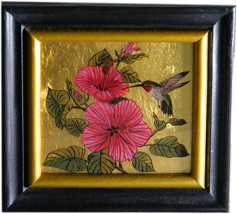 Blume mit echtem Blattgold