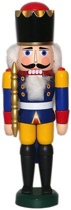 Nussknacker König Blau- Gelb -Höhe 29 cm