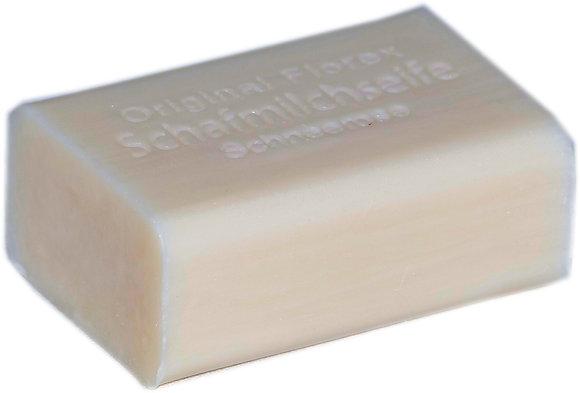 Schafmilchseife eckig 100g, Schneerose