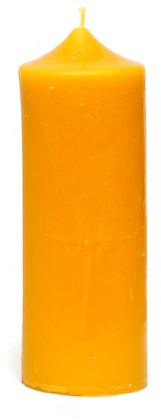 100% Bienenwachskerze  - Stumpenkerze -Höhe 19 cm - ca. 6.5 cm Ø