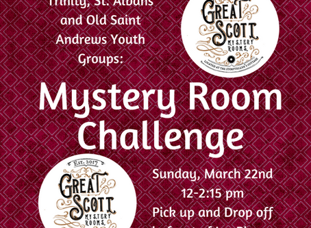 Youth Group Mystery Challenge! RSVP NOW!