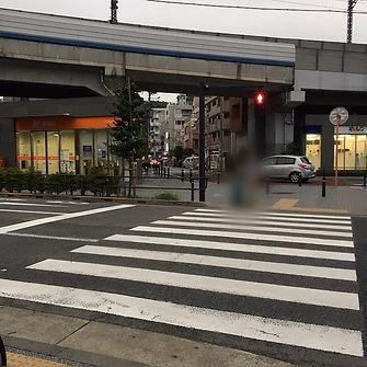 東横線二子玉川駅からわぼく和穆はり灸マッサージまでの道順3・郵便局