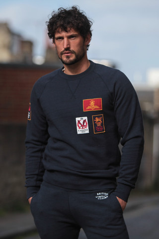 BOMBARDIER COOPER 1952 PATCH NAVY SWEATSHIRT