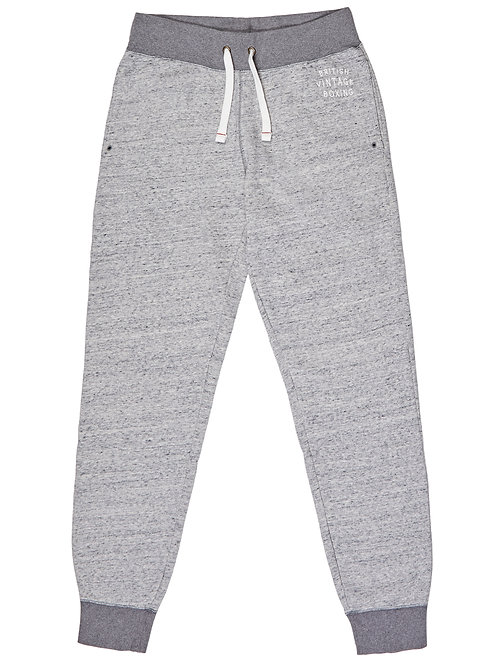 BOMBARDIER JOGGING BOTTOMS - GREY MARL EMBROIDERY