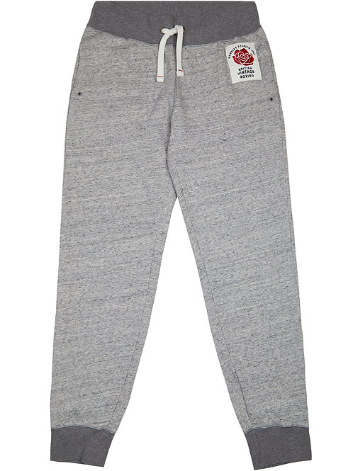 BOMBARDIER ROSE PATCH JOGGING BOTTOMS - GREY MARL