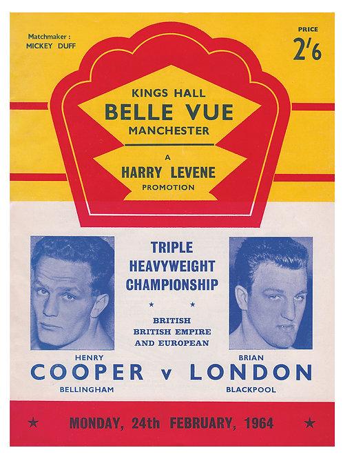 POSTER - HENRY COOPER vs. BRIAN LONDON - 1964