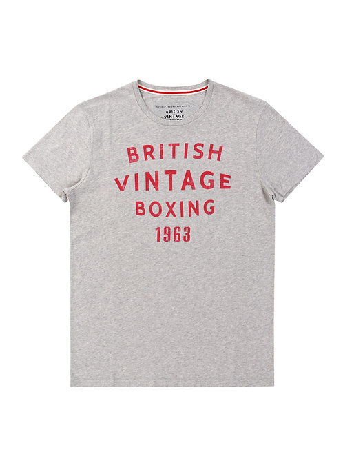 BROUGHTON BVB 1963 T-SHIRT - LIGHT GREY MARL