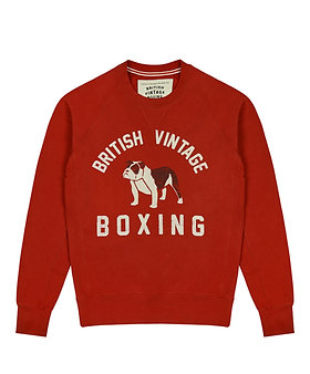 BOMBARDIER BULLDOG CREWNECK SWEATSHIRT - FADED RED