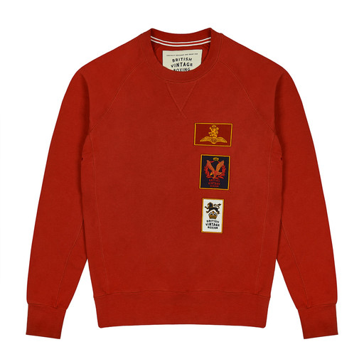 BOMBARDIER PATCH FADED READ CREWNECK SWEATSHIRT
