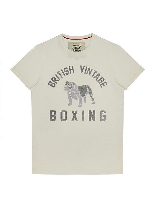 BROUGHTON BRITISH BULLDOG T-SHIRT - VINTAGE WHITE