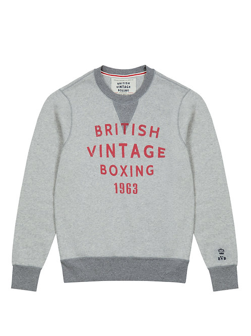 QUEENSBERRY 1963 CREWNECK SWEATSHIRT - LIGHT GREY MARL