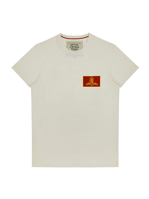 BROUGHTON  MILITARY PATCH T-SHIRT - VINTAGE WHITE
