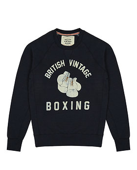 BOMBARDIER BOXING GLOVES CREWNECK SWEATSHIRT - NAVY MARL