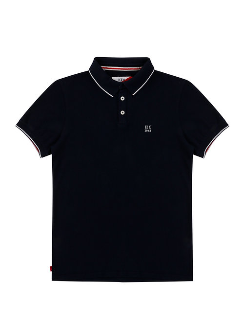 SIR HENRY COOPER SIGNATURE POLO-SHIRT - NAVY