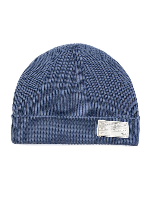 BVB RIBBED MERINO WOOL BEANIE - TECHNICAL LABEL - AIR FORCE BLUE