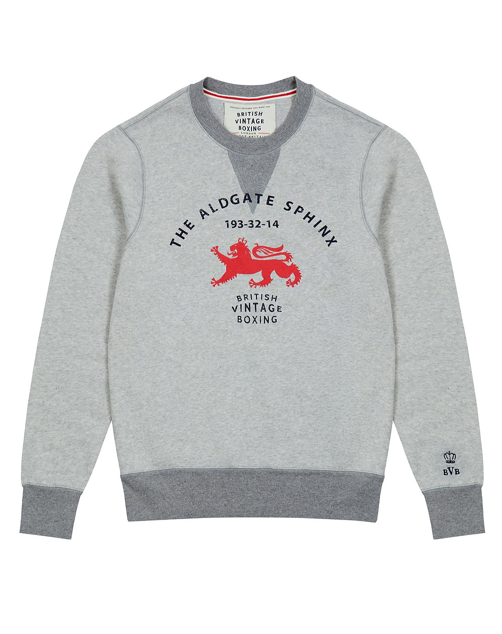 Queensbery 'Aldgate Sphinx' boxing inspired sweatshirt