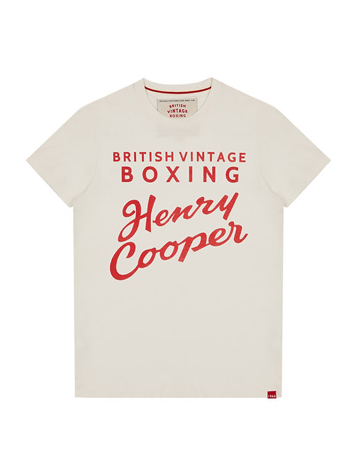 HENRY COOPER 1966 TRAINING CAMP T-SHIRT – VINTAGE WHITE / RED GRAPHIC