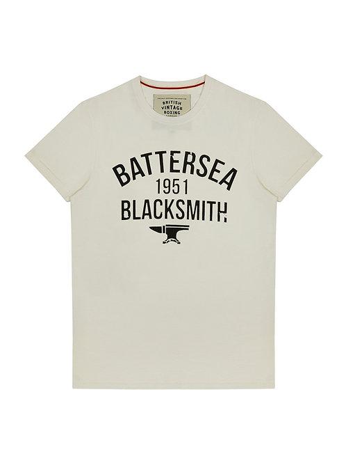 BROUGHTON BATTERSEA BLACKSMITH 1951 T-SHIRT - VINTAGE WHITE