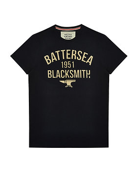 BROUGHTON BATTERSEA BLACKSMITH 1951 T-SHIRT - NAVY MARL