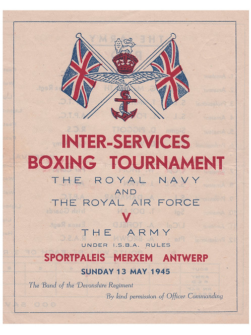 POSTER - INTER-SERVICES BOXING TOURNAMENT